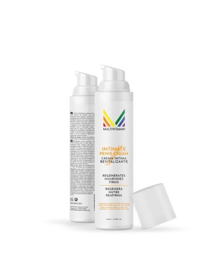 2 cremas íntimas para el cuidado masculino en un formato airless de 100 ml. cada una